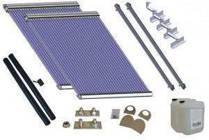 Komplettpakete Solaranlagen mit heat pipe Kollektoren