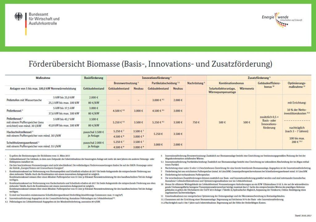 Übersicht Biomasse Förderung Biomasseanlagen
