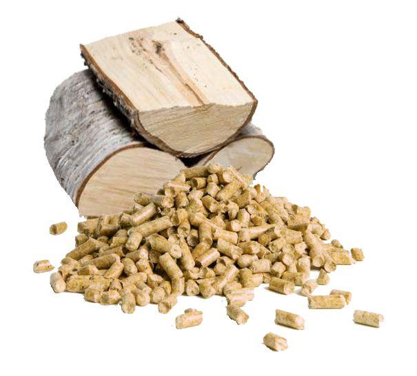 Holz und Pellets für Biomasse Förderung