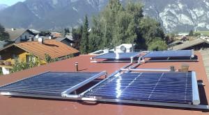 Flachdachmontage einer Solaranlage